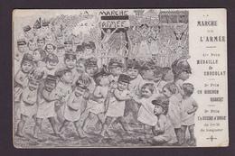 CPA Marche De L'armée 1904 Militaria Militaire Circulé Bébés Multiples Surréalisme - Militaria