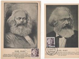 SAAR  Carte Maximun - Karl Marx - Zone Française