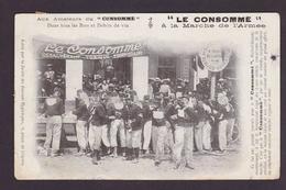 CPA Marche De L'armée 1904 Militaria Militaire Circulé Publicité Le Consommé - Militaria
