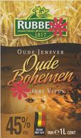 Distillerie / Rubbens Graanstokerij Oude Jenever 45% ' Oude Bohemen ' Inh. 1 L. Belgie - Andere Verzamelingen