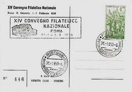 1959 XIV CONVEGNO FILATELICO NAZIONALE - Esposizioni Filateliche