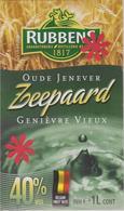 Distillerie / Rubbens Graanstokerij 'Zeepaard' Oude Jenever 40% Inh.1 L. Belgique - Andere Verzamelingen