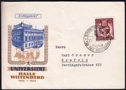 Germany DDR Schönebeck 1952 / Tag Der Briefmarke, Stamp Day / 450 Jahre Universität Halle - Wittenberg - DDR