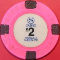$2 Casino Chip. Sheraton Breakwater, Townsville, Australia. Q64. - Casino