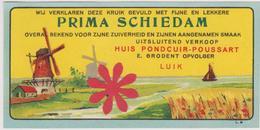 Distillerie / Stokerij 'Prima Schiedam' Huis/ Maison Pondcuir Liege. Belgique - Autres Collections