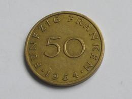 50 Franken 1954 - SARRE - Saarland   **** EN ACHAT IMMEDIAT **** - Sarre