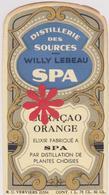 Distillerie Des Sources W. Lebeau Spa 'Curacao Orange' Elixir. Belgique - Autres Collections