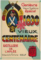 Distillerie De L'Aplée Huy Genièvre Spécial 'Vieux Centenaire' 1830 - Andere Verzamelingen