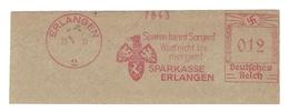 Deutschtes Reich AFS - ERLANGEN, Sparkasse Erlangen  - Sparen Bannt Sorgen! Wart Nicht Bis Morgen! 1935 - Machine Stamps (ATM)