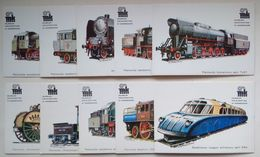 Poland Pologne 10 Locomotives Railway Museum Warsaw Musée Ferroviaire Varsovie - Trains
