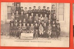 KAI-42 Equipe De Croquet De Courtefontaine, En Deuxième Division. 1913-1914, Carte-photo.Circulé Sous Enveloppe - Otros Municipios