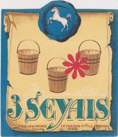 Distillerie Letesson Et Fils Verviers '3 Seyais' Genievre /Jenever - Autres Collections