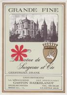 Distillerie Likeurstokerij G. Baekelandt Ingelmunster 'Grande Fine' Belgie. - Andere Verzamelingen
