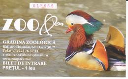 Moldova  , Moldavie , Zoo Ticket , Used - Tickets - Entradas