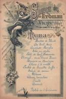FRANCE Vichy Allier Source Des Etoiles Menu 14 Novembre 1896 Format A5 Station Hôtel De L'Espérance - Menus