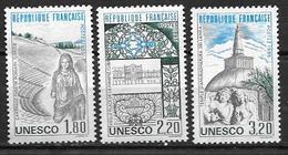 France 1985 Service N° 88/90 Neufs UNESCO 20% De La Cote - Service