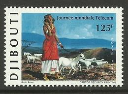 DJIBOUTI  1999  WORLD TELECOM DAY MNH - Djibouti (1977-...)