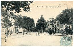 CPA 1906 - CHAGNY Boulevard De La Liberté ( Rue Animée Enfants ) Voyagé - Chagny