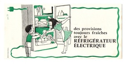 Buvard Des Provisions Toujours Fraîches Avec Le Réfrigérateur électrique - Buvards, Protège-cahiers Illustrés