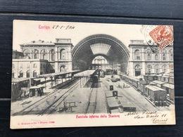 TORINO FACCIATA INTERNA DELLA STAZIONE 1904 - Stazione Porta Nuova