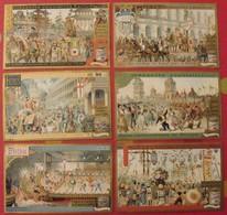 6 Chromo Liebig : Fêtes Masquées Populaires. 1899. S 588. Chromos. - Liebig