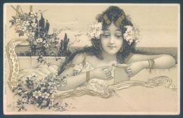 Art Nouveau Jeune Fille Little Girl - Illustrateurs & Photographes