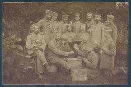 Militaria Gruss Aus Boult Jeu De Cartes Accordéon Carte Photo - Guerre 1914-18