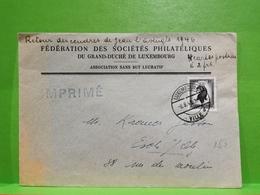 Fédération Des Sociétés Philatéliques Du Grand-duché De Luxembourg 1946 - Luxemburg