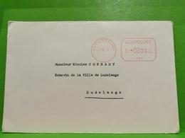 Luxembourg 1956, Envoyé à Dudelange - Luxemburg