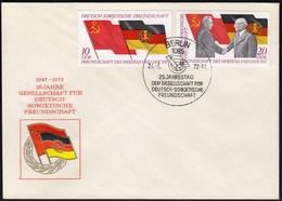 Germany DDR Berlin 1972 / 25th Anniversary Of DDR-Soviet Friendship - Cartas