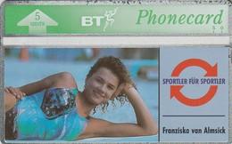 REINO UNIDO. SPORT. Sports Series - Franziska Van Almsick. 5U. 322K. BTO-022. (623) - Sport