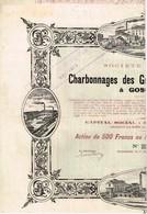 Titre Ancien - Charbonnages Des Grand-Conty & Spinois à Gosselies - Titre De 1907 - Déco - Mijnen