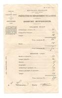 Brevet Supérieur Examen écrit Préfecture Du Département De La Seine - Diplomas Y Calificaciones Escolares