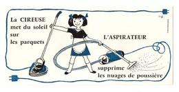 Buvard La Cireuse Met Du Soleil Sur Les Parquets L'aspirateur Supprime Les Nuages De Poussière - Buvards, Protège-cahiers Illustrés