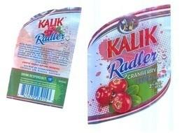 BAHAMAS : KALIK RADLER Cranberry Beer Standard  Label , With Bottle Back Label - Bier