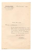 Lettre Manuscrite C. Ribadeau Dumas Avoué à La Cour D'Appel à Paris Le 20 Mai 1898 - Diplomas Y Calificaciones Escolares