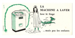 Buvard La Machine à Laver Lave Le Linge Mais Pas Les Enfants - Carte Assorbenti