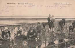 33 Arcachon Parqueurs Parqueuses Parc Huitres Huitre Ostreiculture Cpa Ecrite En 1917 - Arcachon