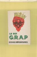 Calendrier 1954 LE ROI  G.R.A.P VINS ALCOOL Couronne RAISIN PUBLICITE Illustrateur BEUVILLE  OCT 2019 Gérar 931 - Big : 1941-60