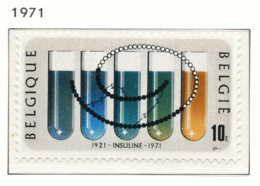 NB - [150924]SUP//**/Mnh-[1595] Belgique 1971, 50 Ans De La Découverte De L'insuline, Santé, SNC - Medizin