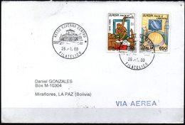 Italia 2000 Mi.2383-84 Circulado Ravenna A La Paz Serie Europa 1995 Paz Y Libertad. - 1995