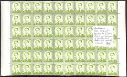 NN - D - [99906]TB//**/Mnh-NN - Belgique 1973 - R34, 3f50 Vert, Bandes De 6 (10x) Dans Un Morceau De Feuille Dont Bord D - Rouleaux