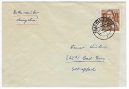 DEUTSCHLAND/ DDR  –  Brief Halle 14.11.1955  Mit # 489, Engels  – 1804 - DDR