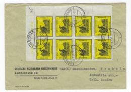 DEUTSCHLAND/ DDR –  Doppel - Brief  V. 28.7.1959 M. # 698 (8x) - Vogel – 1892 - [6] República Democrática