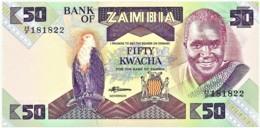 ZAMBIA - 50 KWACHA - ND ( 1986 - 88 ) - Pick 28 - Sign. 7 - UNC. - President K. KAUNDA - Zambia