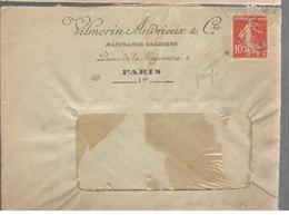 25505 - Perforation De VILLMORIN - Marcophilie (Lettres)