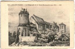 41thks 129 CPA - ANCIEN PARIS - LE TELEGRAPHE DE LA BUTTE MONTMARTRE VERS 1824 - Autres