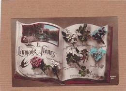 CPA Le Langage Des Fleurs Message Amour Amitié - Flowers, Plants & Trees