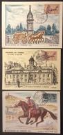 CM0588 Journée Du Timbre 1378 Riom Le Havre Vignette 1406 Lourdes Lot 3 Carte Maximum - Maximumkaarten