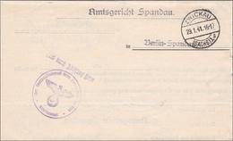 Frei Durch Ablösung ... Amtsgericht Spandau- Von Zwickau 1941 - Deutschland